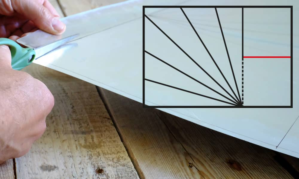 Découpe du fond du réflecteur du four solaire