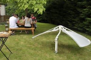 Le barbecue solaire Solario Cooker se stocke tête vers le bas.
