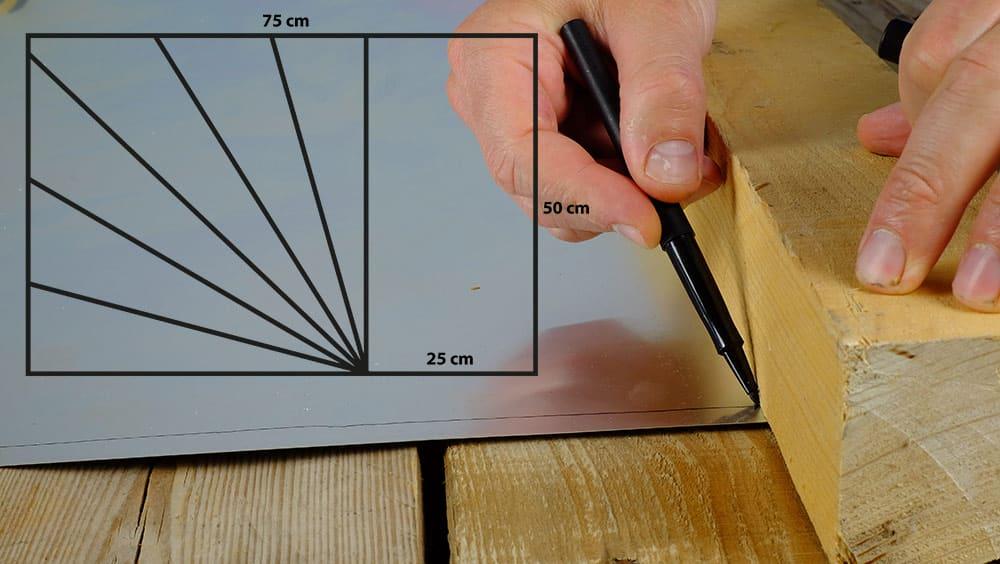 plan de construction du réflecteur