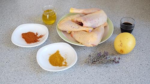 ingrédients recette poulet