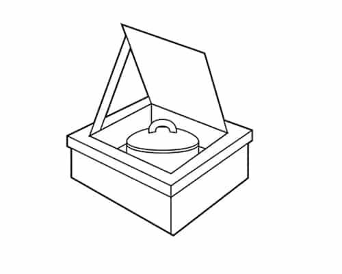four solaire de type boîte