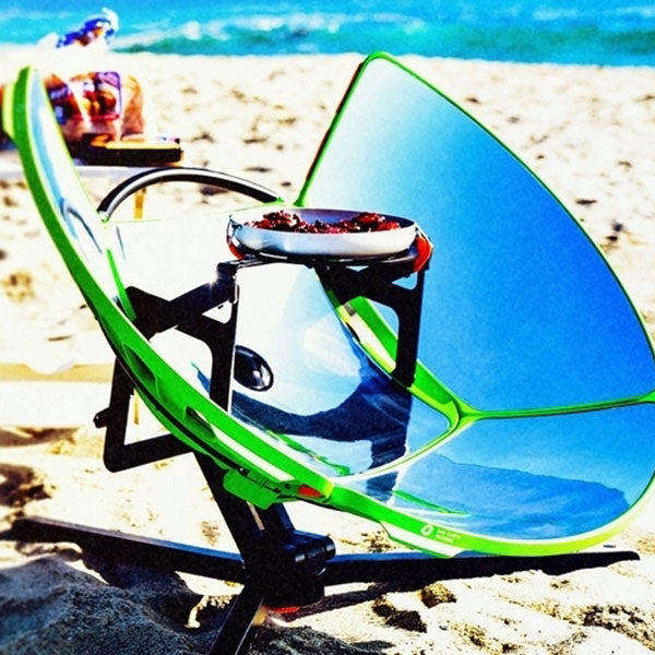 four solaire sur la plage