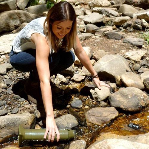 Stériliser l'eau de rivière