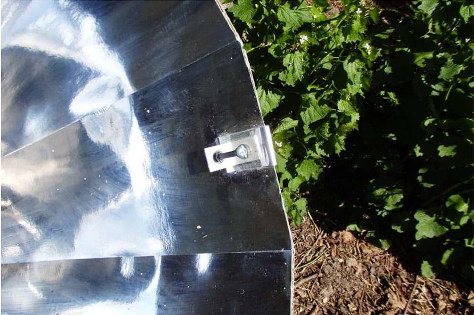 pointage de la parabole solaire