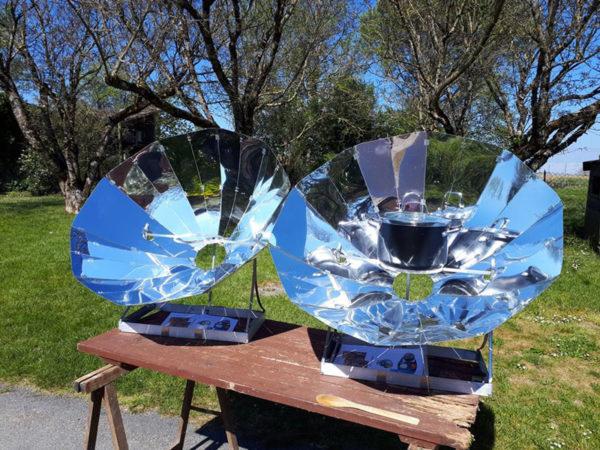 Deux paraboles solaires Sunplicity