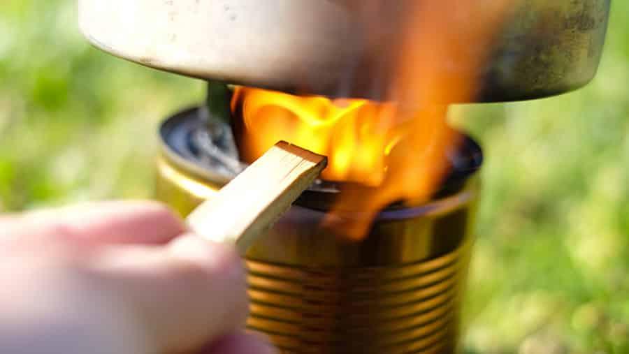 réchaud à bois à double paroi