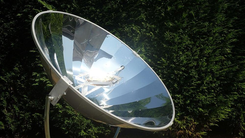 énergie solaire faisceau